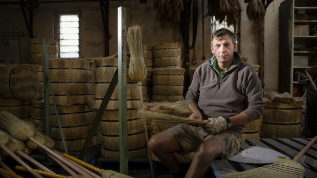 Robert Richards is the co-owner of the Tumut Broom Factory, the last of its kind in Australia.