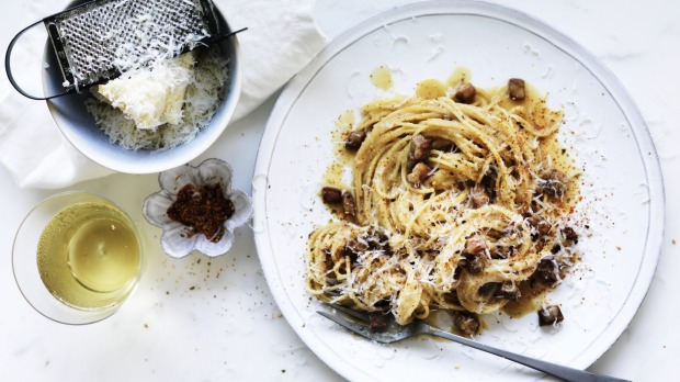 Add miso to your carbonara pasta for a simple flavour boost, straight from the pantry.