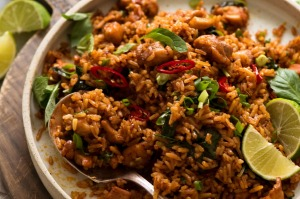 Thai red curry fried rice recipe forRecipeTinEats Good Food online column March 2020. Good Food use only. Not for ...