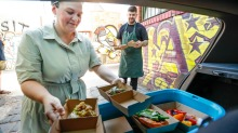 Hannah Green, from Etta in Lygon Street, has been testing dishes for delivery.