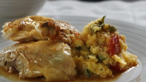 Polenta can be used as a gluten-free stuffing for chicken.