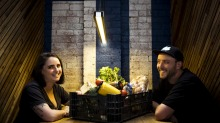 Theodore's restaurant owner Lily Stokes and Northside Fruit and Vege's Kim Driver are saving farm produce from being ...