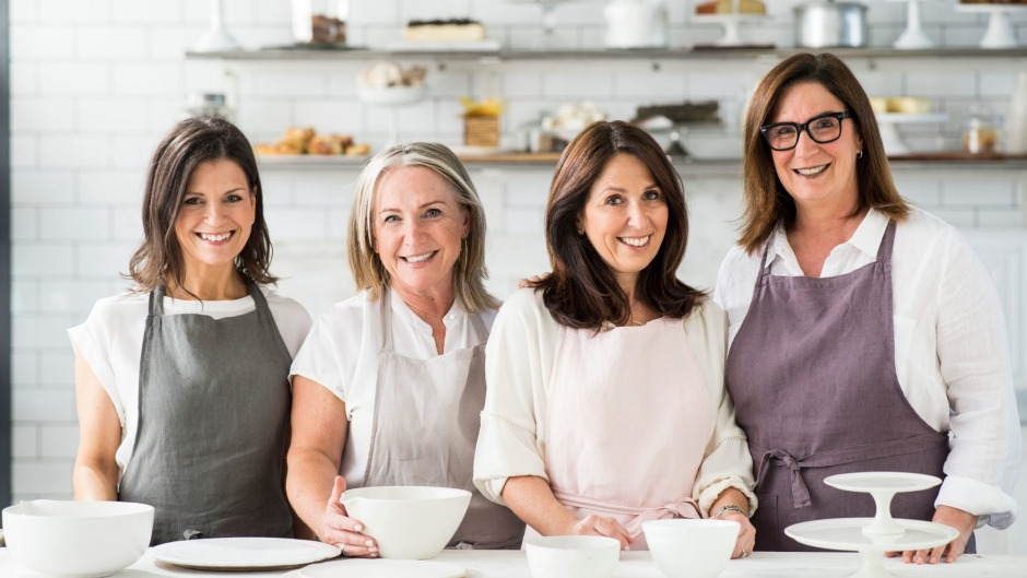Monday Morning Cooking Club (from left): Merelyn Frank Chalmers, Lisa Goldberg, Natanya Eskin and Jacqui Israel.