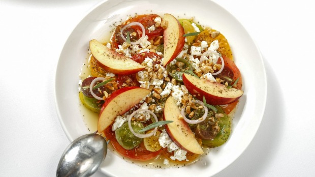 Heirloom tomato crudo.