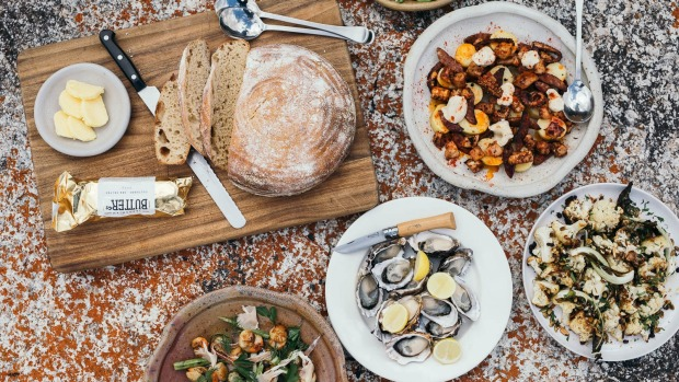 After a mountain bike ride on the Bay of Fires Trail with Blue Derby Pods Ride, feast on the beach with a meal by chef Thomas Dicker.