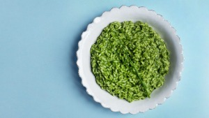Jill Dupleix's green herb risotto with parmesan.