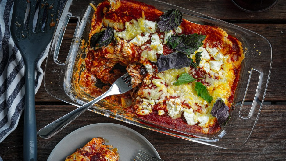 Chicken enchiladas are perfect for batch-cooking and popping in the fridge or freezer.