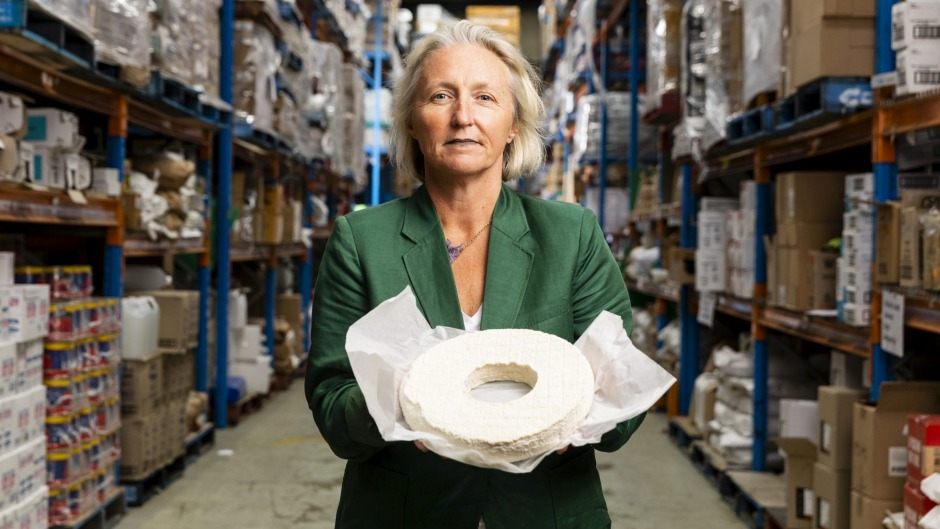 Two Providores general manager Sally Gosper with Holy Goat cheese. Two Providores is now selling premium produce to the ...
