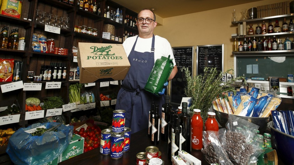 Becco has become a grocer to help keep restaurant suppliers afloat.