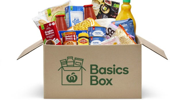 TheWoolworths Basics Box, created to help provide essential products to vulnerable customers currently unable to visit ...