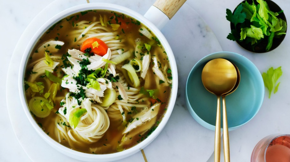 Parsley is non-negotiable in this chicken noodlesoup.