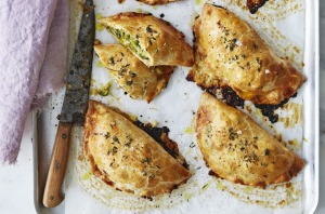 Broccoli and miso (or anchovy) hand pies.