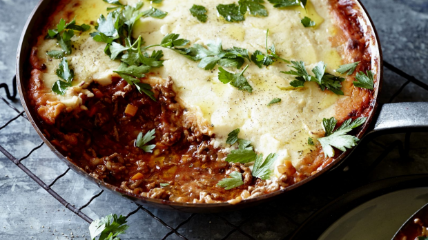 Shepherds Pie from Pete Evans. To be used for upcoming recipe spread by Pete Evans for Epicure/Good Food. Image supplied by Monica Cannataci <mecannataci@gmail.com>