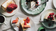 Cheesecake from Beatrix Bakes by Natalie Paull, one of the year's best-selling cookbooks.