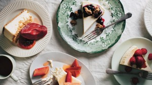 Choose your own cheesecake adventure: Beatrix's cheesecake  pictured with various toppings including (clockwise from ...