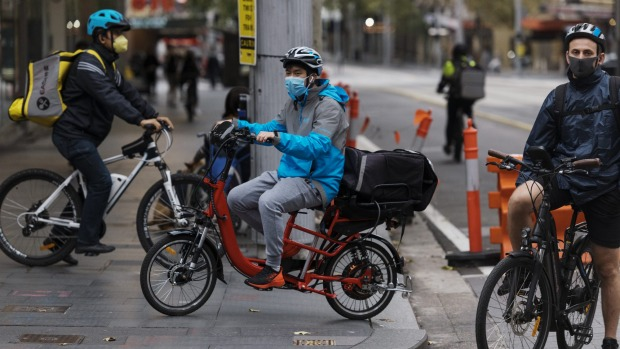 A shortage of delivery cyclists and drivers during lockdown means food is often left uncollected at restaurants.