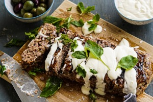 Six-ish ingredient Greek lamb meatloaf.
