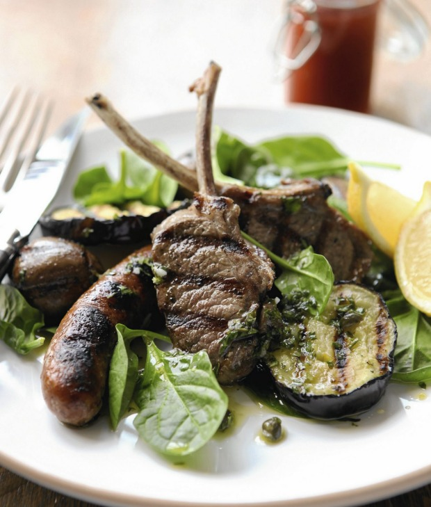 A Mediterranean spin on mixed grill.