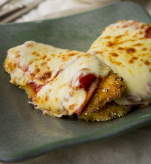 Chicken cutlets are perfect for parmigiana.