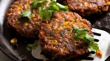 Crispy corn fritters recipe forRecipeTinEats Good Food online column April 2020. Good Food use only. Not for ...