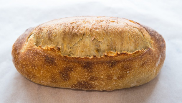 A perfect sourdough loaf from the pros at Gordon Street Bakery in Footscray.