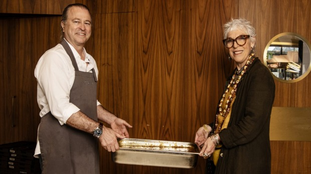 Chef Neil Perry and OzHarvest CEO Ronni Kahn are working together to help feed vulnerable people.
