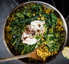 Katrina Meynink's warm chickpea and rice one-pot wonder.