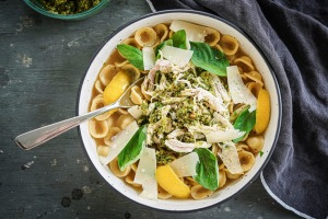 This cheat's chicken noodle soup works with any small pasta shape.