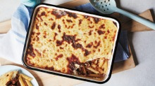 Step aside macaroni cheese, pastitsio is on the menu.