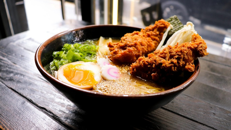 Comfort and security: Fried chicken ramen from Butter in Surry Hills.
