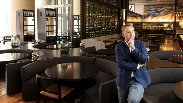 """Restaurants will get busier and we'll be able to employ more people."" Chef and restaurateur Luke Mangan at the Hilton's ..."