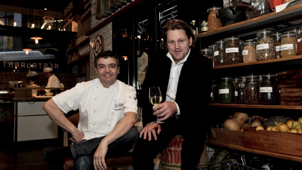 Chef Sean Connolly (left) and Sydney hospitality entrepreneur Fraser Short are behind the new venture.