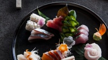 Sushi chef Ryuichi Yoshii's sashimi selection during his time at Fujisaki.