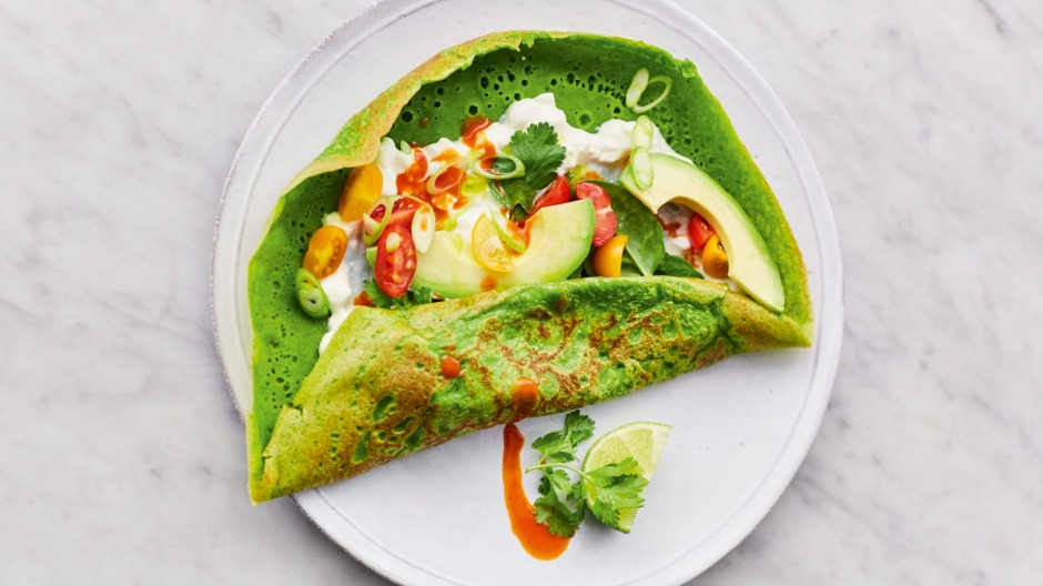 Jamie Oliver's super spinach pancakes.