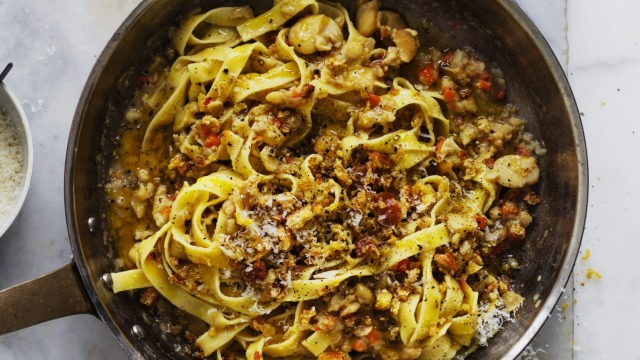 Neil Perry's fettuccine with broad beans