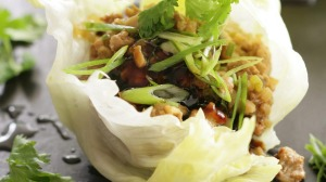 Chicken sang choy bao lettuce cups.
