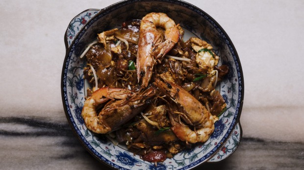 Char kwai teow is value-added with shellfish of your choice.
