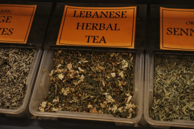 Lebanese herbal tea available at the Valley View Continental Spices store.