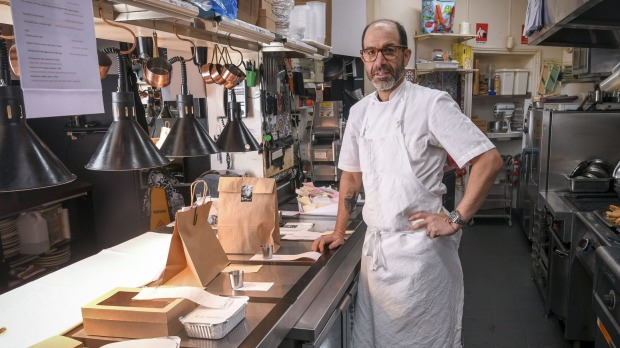 Mister Bianco owner-chef Joe Vargetto in the kitchen of his Kew restaurant.