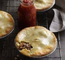 Old-fashioned meat pies.