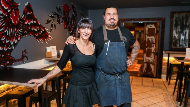 Chef Nicola Coccia and wife Alexandra.