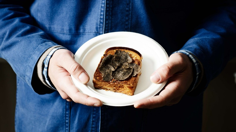 Maker and Monger's truffle and comte toastie on brioche.