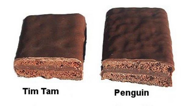 McVitie's Tim Tam-like Penguins can be found for as low as £1 a packet in Britain.