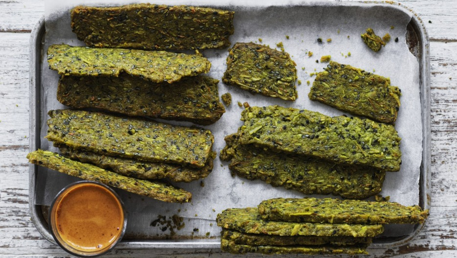 Serve these green tea wafers with a cuppa (or coffee, pictured).