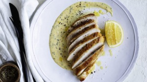 Use any mustard you have on hand to flavour this cream sauce.