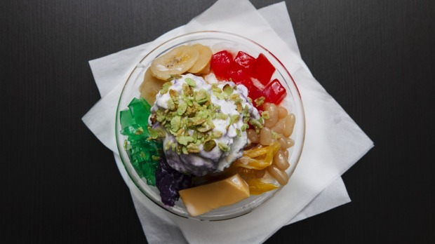 A-Team's Kitchen specialises in the classic Filipino dessert halo halo.