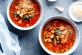 Karen Martini's Minestrone with roasted vegetables.