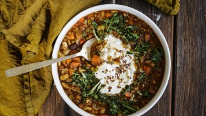 Use any soup mix in this Sri Lankan-spiced soup.