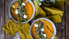 Save some roast lamb for this roasted ras-el-hanout pumpkin soup.