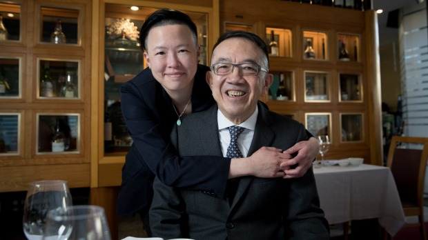 Mathew Chan with his niece Evelyn Lee, who will be taking over Peacock Gardens from her uncle.
